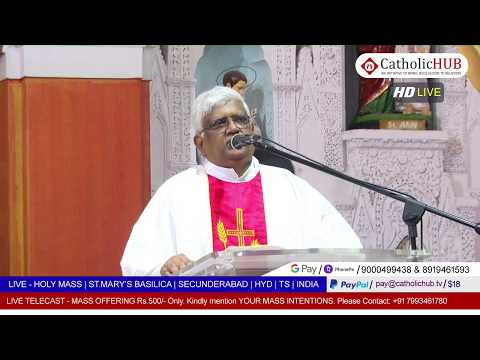 HOLY MASS | ST.MARY'S BASILICA | SEC BAD | HYD | TS | INDIA | 17-05-2020