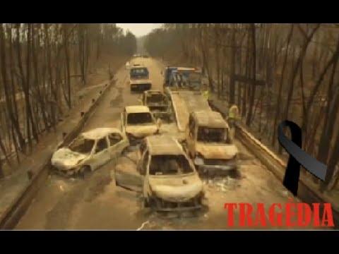 Tragédia em Pedrógão Grande Imagens Drone