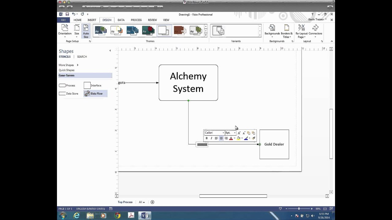 tutorial creating a context diagram with visio [ 1280 x 720 Pixel ]