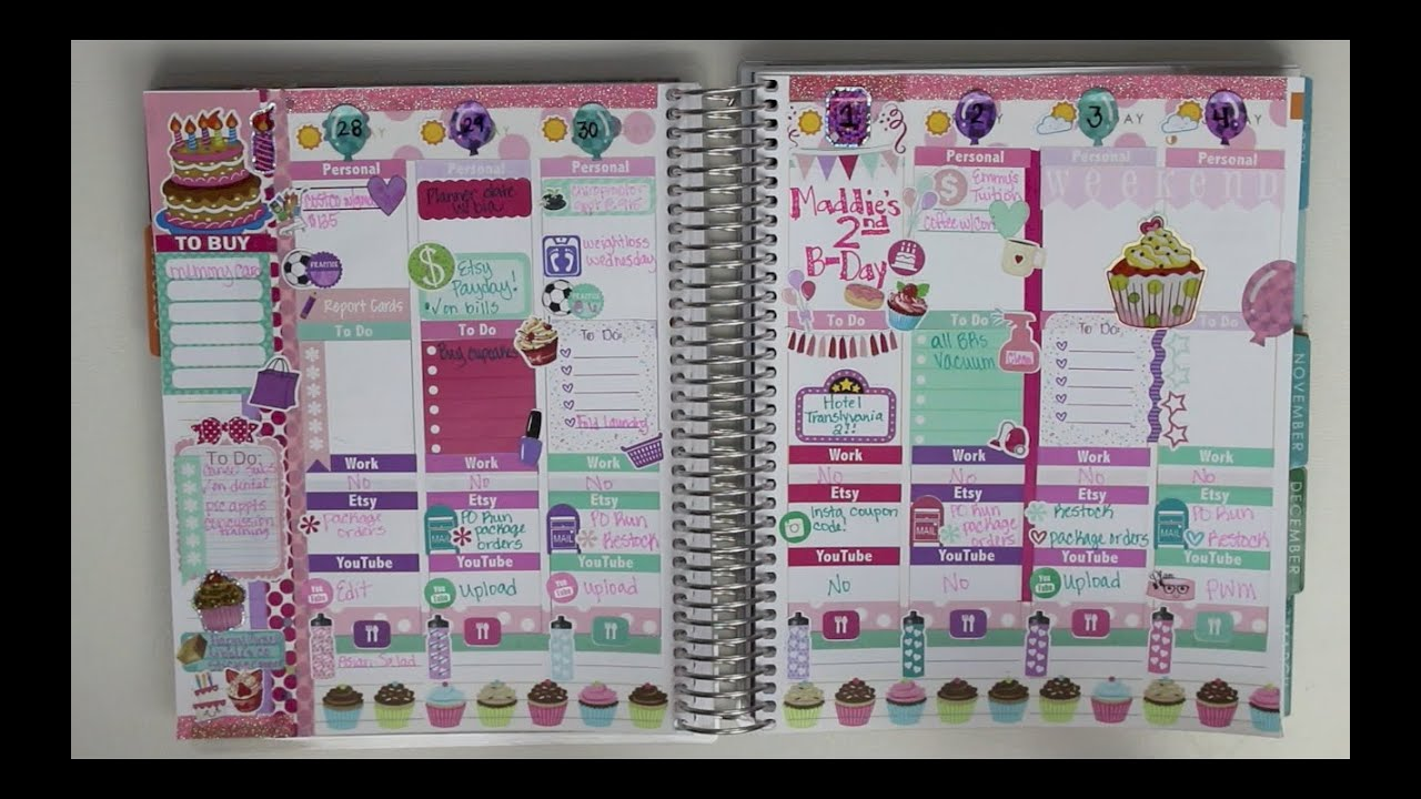plan with me september 28 october 4 happy birthday