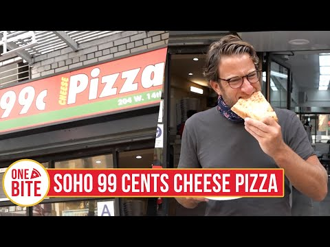 Barstool Pizza Review - Soho 99 Cents Cheese Pizza powered by Monster Energy