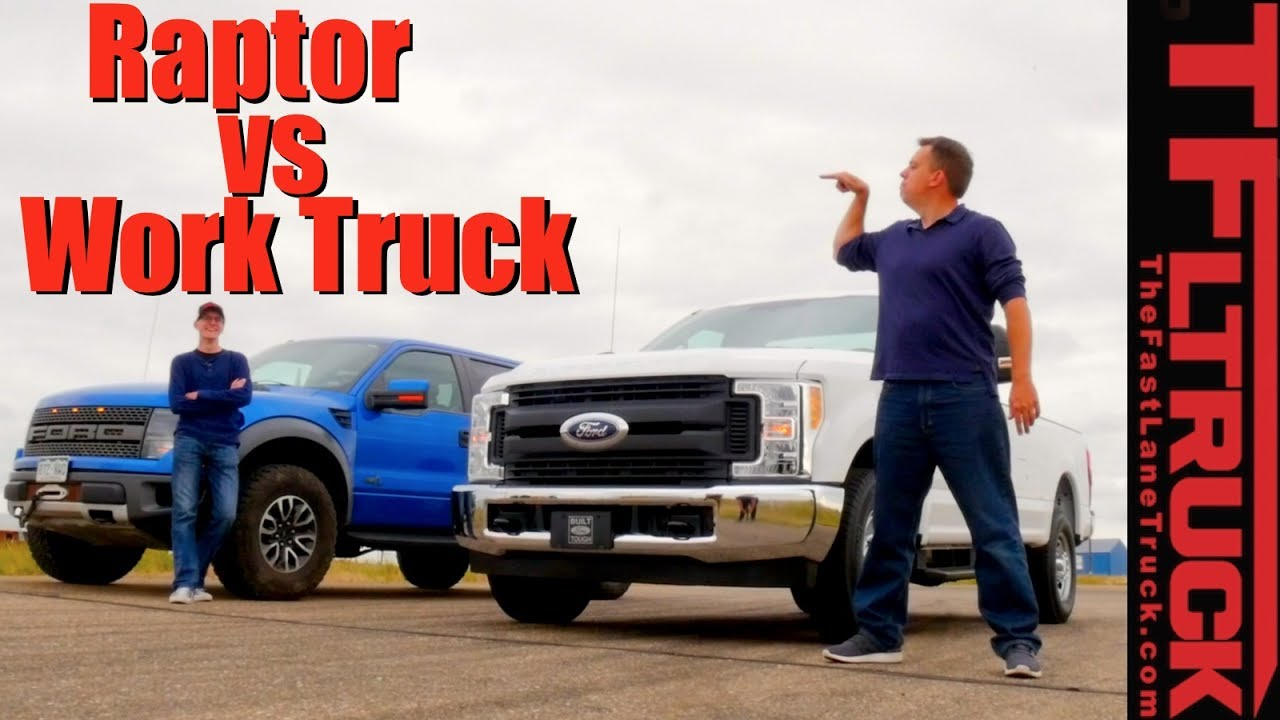 6 2l Vs 6 2l Drag Race Is The Raptor Faster Than A Ford F250 With The Same V8