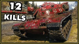 M60 - 12 Kills - World of Tanks Gameplay