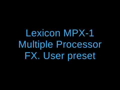 Lexicon MPX1 Demo 1
