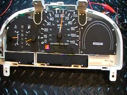 hqdefault 98 99 nissan frontier instrument cluster, gauge, speedometer 1998 Nissan Frontier Fuse Diagram at eliteediting.co