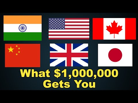 What $1 Million Gets You Around The World - Real Estate In Canada, U.S.A, India, China, U.K, & Japan