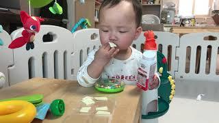 가을이의 간식타임 | 치즈 혼자먹는 10개월 아기 | …