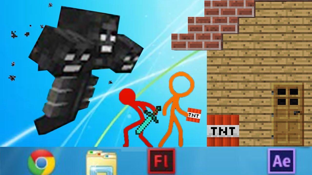 Minecraft vs Stickman Animation AVM Shorts Alan Becker Animation vs. Minecraft Shorts 18 StickFigure