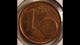 1 EURO Cent coin collection