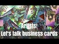 Business Card Tips for Artists   Awkward Artist Confessions   Artist Vlog #7
