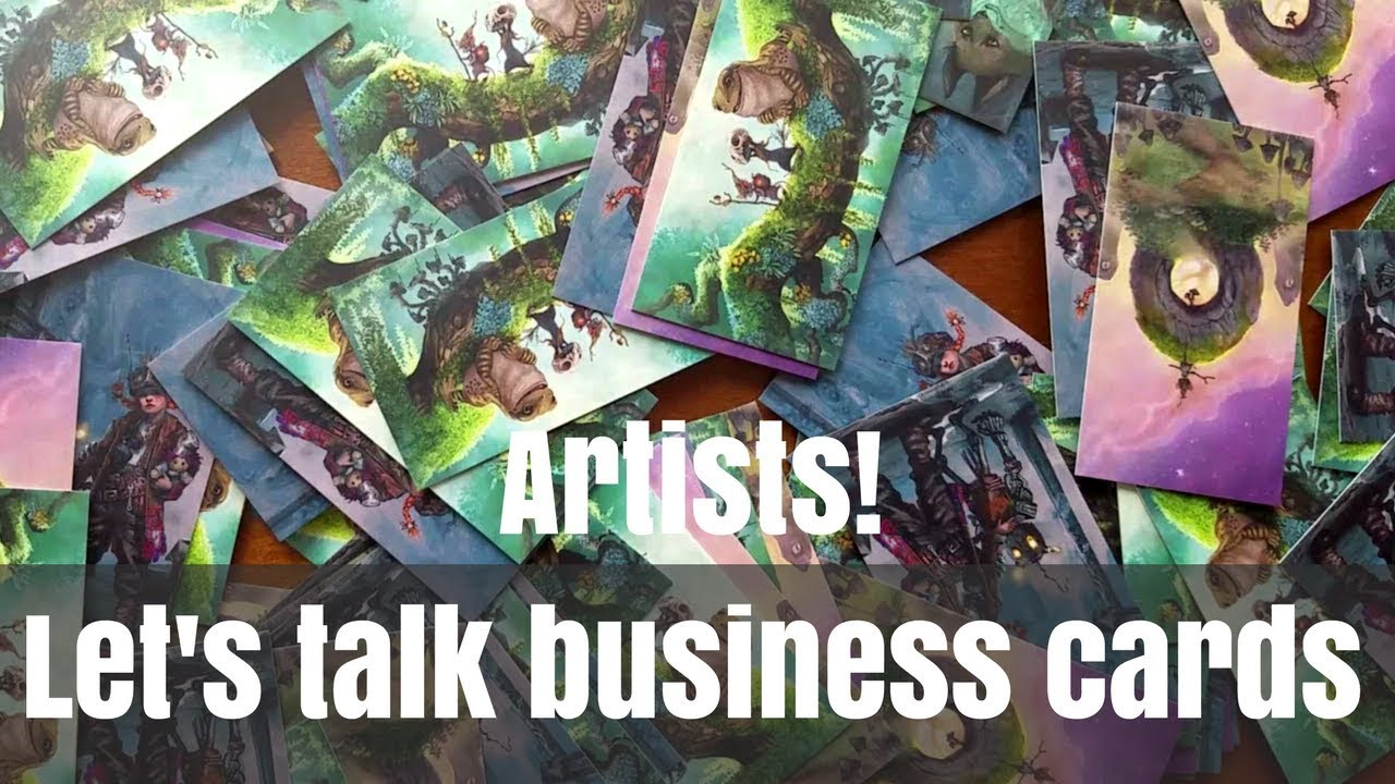 Business Card Tips for Artists | Awkward Artist Confessions | Artist ...