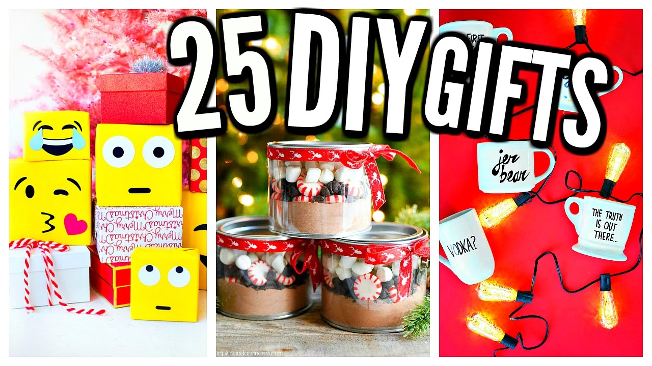 25 DIY Christmas Gifts! Homemade Gift Ideas! - YouTube