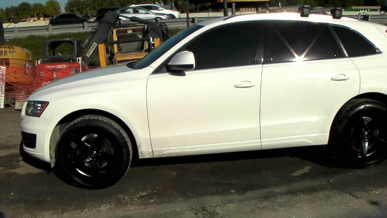 DUBSandTIRES.com 22 Inch XO Miami Black Wheels 2011 Audi Q5 Review Concave Rims Miami Ft ...