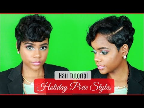 How I Style My Pixie Cut For The Holiday Season | 6 Easy Styles | Relaxed Short Hair | Hair Tutorial