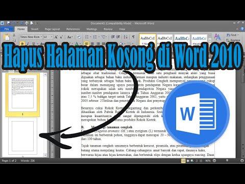 Cara mengatasi muncul halaman kosong atau lembar kerja baru di word. cara menghapus Section Break (Next Page) di Ms..