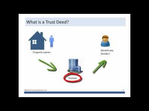 What is a Trust Deed?