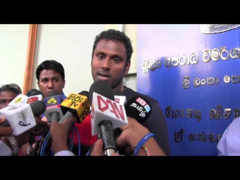 Sri Lankan cricketer and current captain  Angelo Davis Mathews