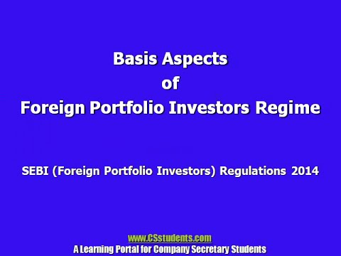 SEBI Foreign Portfolio Investors Regulations