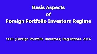 SEBI Foreign Portfolio Investors Regulations
