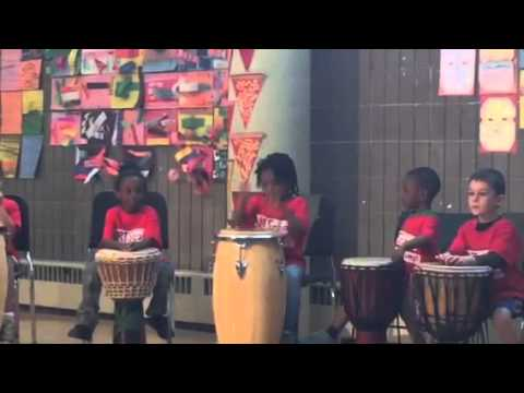 African drum performance at Harlem School of the Arts