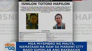 ntg mga miyembro ng maute namataan na raw sa marawi city bago sumiklab ang bakbakan