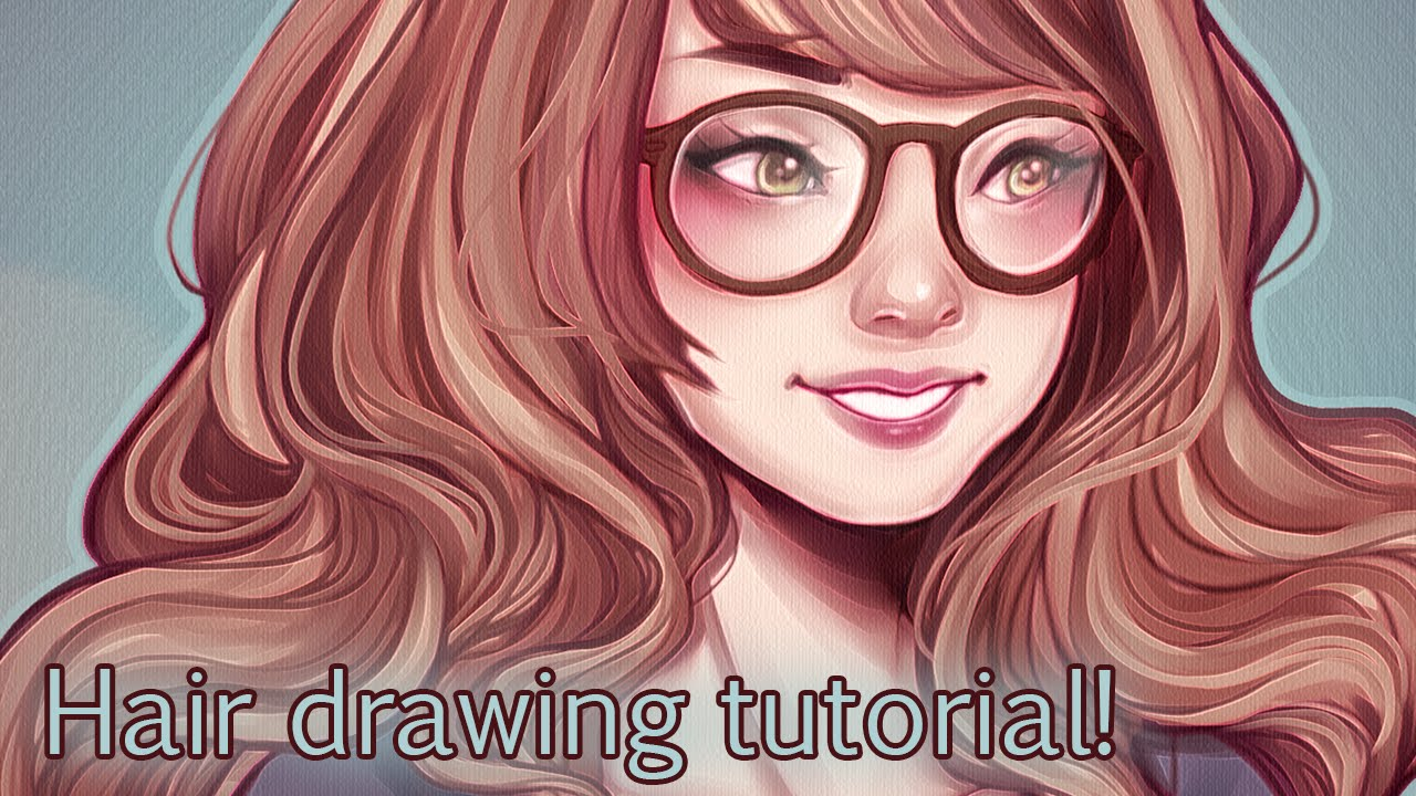 Tutorial Drawing Hair Youtube