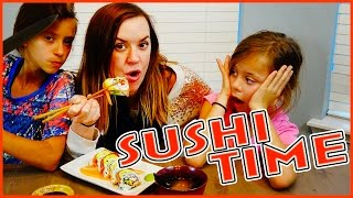 🍣🍣SUSHI MAKING🍣🍣Kids VS Parents | FOOD FRIDAY | SMELLY BELLY TV