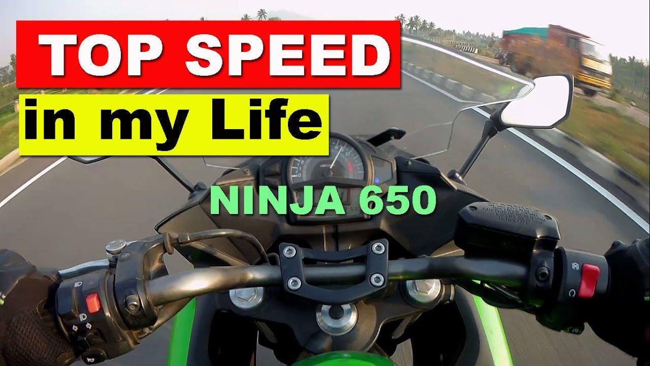 Highest Speed on Kawasaki Ninja 650 - Whole Life Top Speed