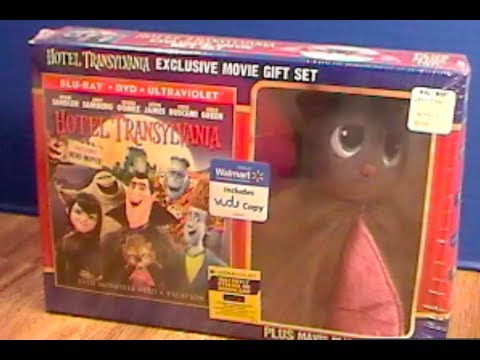 Hotel Transylvania Blu-Ray Gift Set Unboxing Walmart Exclusive w/ Mavis Bat Plush! by Bin