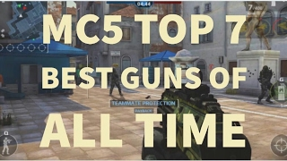 these are the best guns of all time till now in mc5.. u can check a...