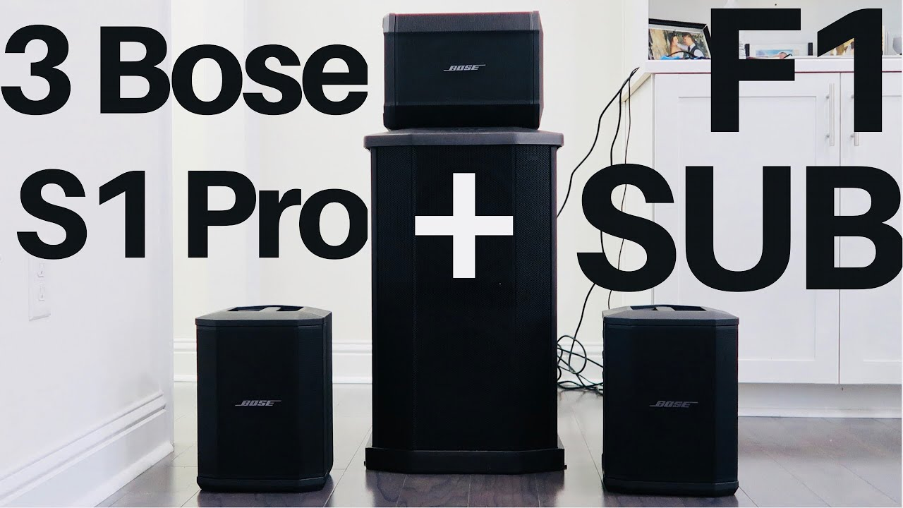 3 Bose S1 Pro + Bose F1 Sub SOUND TEST DEMO Review - Best Speakers Set Up