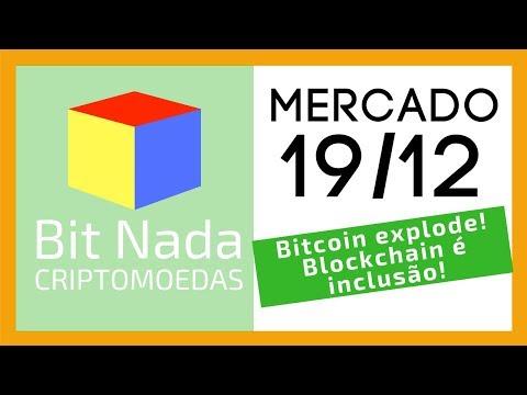 Mercado De Cripto! 19/12 🔥 Bitcoin Volta Aos 7.200 USD Com Explosão! / Casamento Em Blockchain!