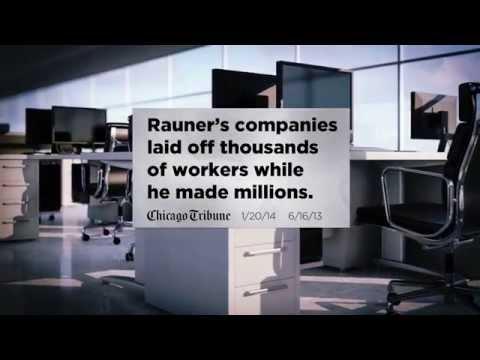 """Quinn for Illinois TV Ad - Bruce Rauner: """"Gimme Shelter"""""""