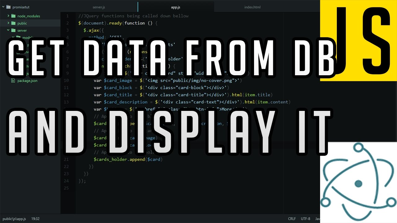 Electron Tutorial: Get data from database and display it using JQuery