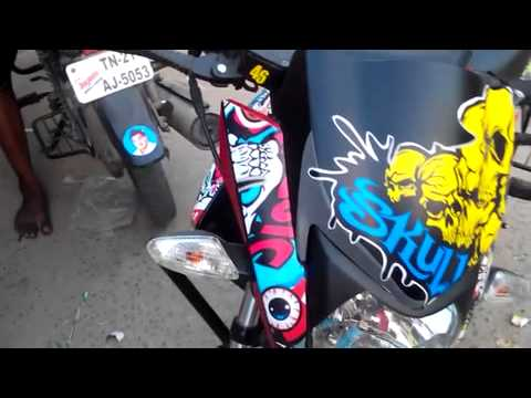 Bike stickering fivestar sticker