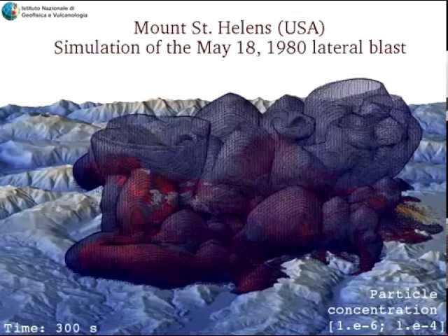 Mount St. Helens (USA) - Vista 3D da Ovest