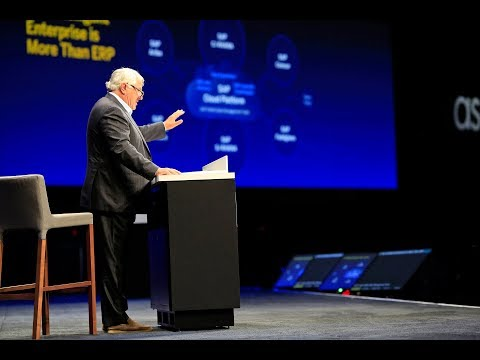 Intelligent Enterprise Foundation: Hasso Plattner at SAPPHIRE NOW 2018 Highlights
