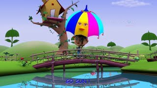 Umbrella Rhymes | Alphabet Song 3d nursery rhymes for kids | U for umbrella song