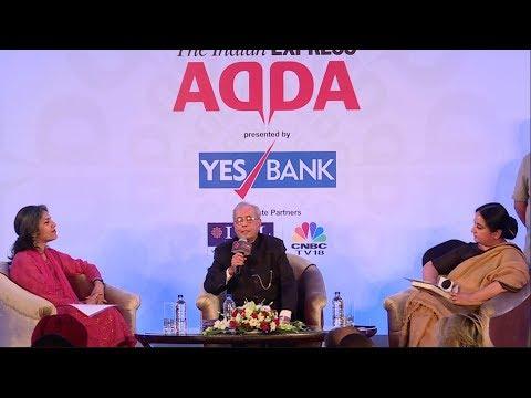 Express Adda With Pranab Mukherjee, Former President Of India