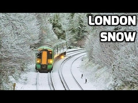 LONDON SNOW 2018: First Snowfall in London UK Winter 2018