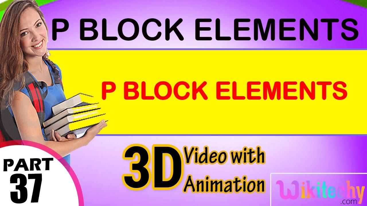 cbse class 12 chemistry p block notes pdf
