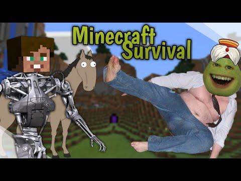 LÍNÝ HRUŠKA A RETARDOVANÝ KŮŇ JSOU ZPÁTKY !! - [Minecraft - Survival] w/ Hruška