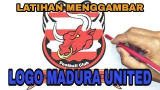 Download Video Menggambar Logo Club Sepak Bola  MADURA UNITED INDONESIA MP3 3GP MP4