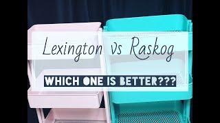 Planner Cart Organization- Lexington Cart vs Raskog