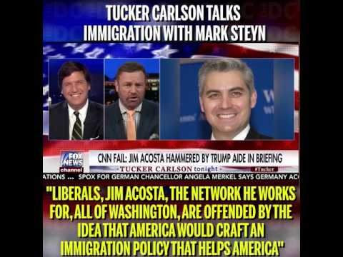 Tucker Carlson Discusses Immigration With Mark Steyn