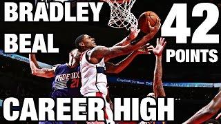 Bradley beal scores career high 42 in win l 11.21.16