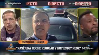 Cristóbal Soria explica su gran susto