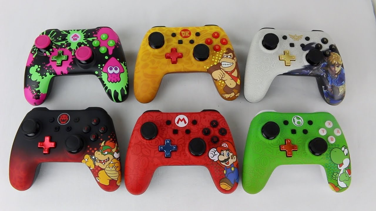 Nintendo Switch PowerA Splatoon/DK/Link/Bowser/Mario/Yoshi Wired Controllers