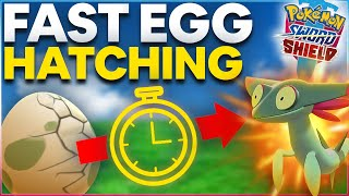HOW TO HATCH EGGS FAST in Pokemon Sword and Shield | POKEMON EGG HATCHING GUIDE |
