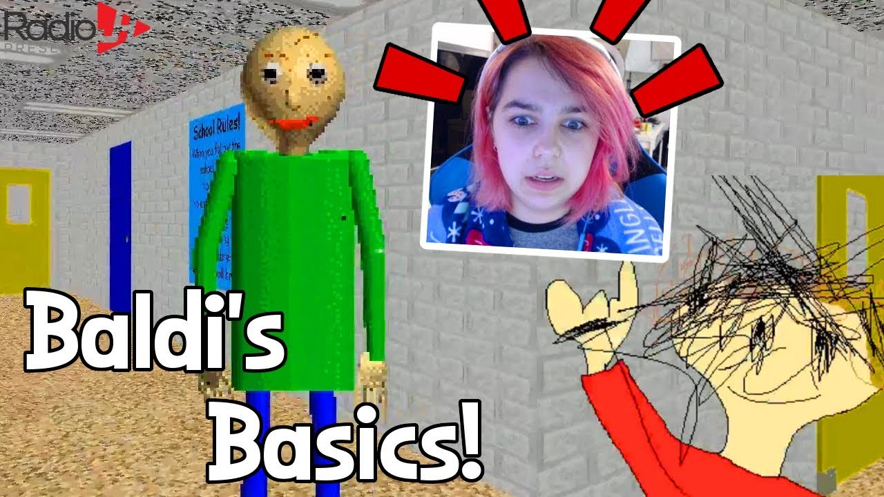 Audrey Reacts To Baldi S Basics Radiojh Games Youtube